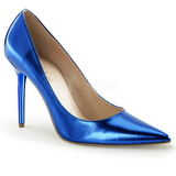 Blu Metallico 10 cm CLASSIQUE-20 Scarpe Décolleté Tacco Stiletto