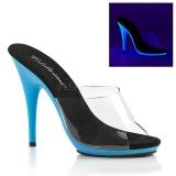 Blu Neon 13 cm POISE-501UV Plateau Mules Scarpe