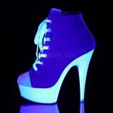 Blu Neon 15 cm DELIGHT-600SK-02 Scarpe da ginnastica con tacco in tela