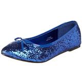 Blu STAR-16G scintillare scarpe ballerine donna basse