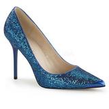 Blu Scintillare 10 cm CLASSIQUE-20 Scarpe Décolleté Tacco Stiletto