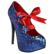 Blu Scintillare 14,5 cm TEEZE-10G Concealed burlesque scarpe tacchi a spillo