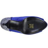 Blu Strass 13 cm LOLITA-08 Scarpe Décolleté da Sera
