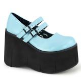 Blu Vegano 11,5 cm DEMONIA KERA-08 scarpe décolleté mary jane plateau