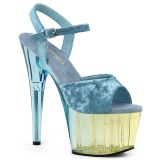 Blu Velluto 18 cm ADORE-709MCT sandali da pole dance