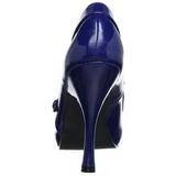 Blu Vernice 12 cm retro vintage CUTIEPIE-02 scarpe mary jane con plateau nascosto
