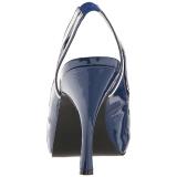 Blu Verniciata 11,5 cm PINUP-10 grandi taglie sandali donna