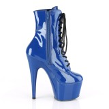 Blu Verniciata 18 cm ADORE-1020 stivaletti con plateau donna
