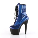 Blu Verniciata 18 cm ADORE-1020SHG stivaletti da pole dance