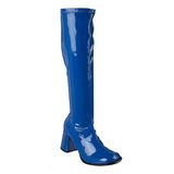 Blu Verniciato 7,5 cm Funtasma GOGO-300 Stivali Donna