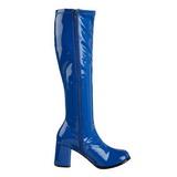 Blu Verniciato 8,5 cm Funtasma GOGO-300 Stivali Donna