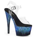 Blu scintillare 18 cm ADORE-708SS scarpe da cubista e spogliarellista