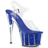Blu scintillare 18 cm Pleaser ADORE-708G scarpe con tacchi da pole dance