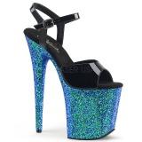 Blu scintillare 20 cm Pleaser FLAMINGO-809LG scarpe da cubista e spogliarellista