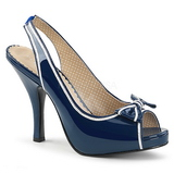 Blue Patent 11,5 cm PINUP-10 big size sandals womens