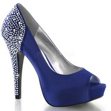 Blue Rhinestone 13 cm LOLITA-08 High Heeled Evening Pumps Shoes
