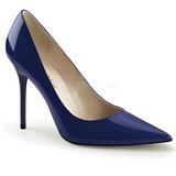 Blue Varnished 10 cm CLASSIQUE-20 big size stilettos shoes