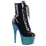 Blue glitter 18 cm Pleaser ADORE-1020LG Pole dancing ankle boots