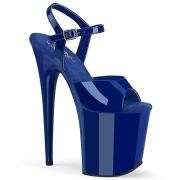Blue platform 20 cm FLAMINGO-809 pleaser high heels shoes