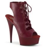 Borgogna Vegano 15 cm DELIGHT-600-20 Stivali alla caviglia punta aperta