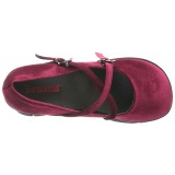 Borgogna Velluto 11,5 cm KERA-10 lolita scarpe plateau