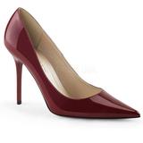 Borgogna Vernice 10 cm CLASSIQUE-20 scarpe tacchi a spillo con punta