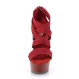 Borgogna banda elasticizzata 15 cm DELIGHT-669 scarpe da donna pleaser