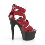 Borgogna banda elasticizzata 18 cm ADORE-748SP scarpe da donna pleaser