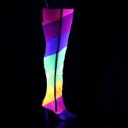 Brillare 10 cm DREAM-3012RBG Overknee Stivali da Drag Queen