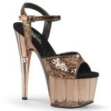 Bronzo 18 cm ADORE-710GT scintillare plateau sandali donna con tacco