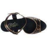 Bronzo 18 cm MOON-710GT scintillare plateau sandali donna con tacco