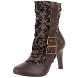 Brown 10,5 cm TESLA-106 Flat Ankle Calf Boots Women