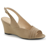 Brown Leatherette 7,5 cm KIMBERLY-01SP big size sandals womens