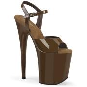 Brown platform 20 cm FLAMINGO-809 pleaser high heels shoes