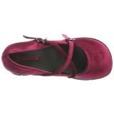 Burgundy Velvet 11,5 cm KERA-10 lolita platform shoes