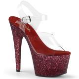 Burgundy glitter 18 cm Pleaser ADORE-708HMG Pole dancing high heels shoes