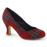 Canvas 7,5 cm FLAPPER-40 Pinup Pumps Shoes with Low Heels