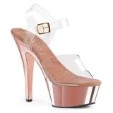Chrome 18 cm Pleaser KISS-208 Platform High Heels Shoes