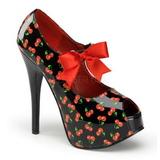Ciliegio Nero 14,5 cm Burlesque TEEZE-25-3 Scarpe da donna con tacco altissime