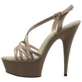 Cipria 15 cm Pleaser DELIGHT-613 Sandali Donna con Tacco