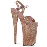 Copper 25,5 cm BEYOND-010LG glitter platform high heels shoes