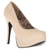 Cream Leatherette 14,5 cm Burlesque TEEZE-06W mens pumps for wide feets