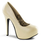 Cream Matte 14,5 cm BORDELLO TEEZE-06 Platform Pumps