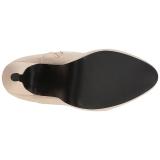 Crema Ecopelle 12,5 cm EVE-106 grandi taglie stivaletti donna