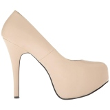 Crema Ecopelle 14,5 cm Burlesque TEEZE-06W scarpe décolleté per piedi larghi da uomo