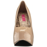Crema Verniciata 14,5 cm Burlesque TEEZE-06W scarpe décolleté per piedi larghi da uomo