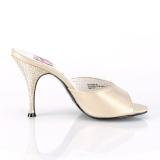 Dorato 10,5 cm MONROE-05 Pinup scarpe ciabattine