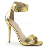Dorato 13 cm Pleaser AMUSE-10 sandali tacchi a spillo