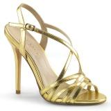 Dorato 13 cm Pleaser AMUSE-13 sandali tacchi a spillo