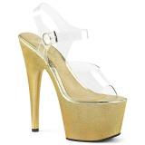 Dorato 18 cm ADORE-708HG Ologramma plateau sandali donna con tacco